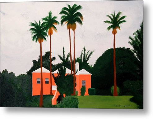 Island Houses Metal Print featuring the painting Albouys Point Bermuda by Caleb Bynum