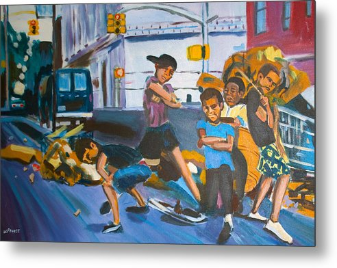 New York City Paintings Metal Print featuring the painting Playground by Wayne Pearce