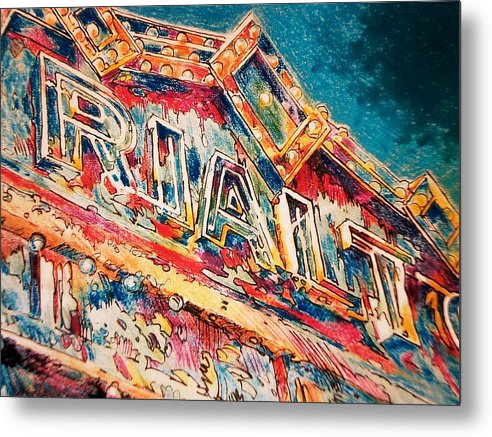 Metal Print featuring the painting Lights Out At The Rialto by Don Getz
