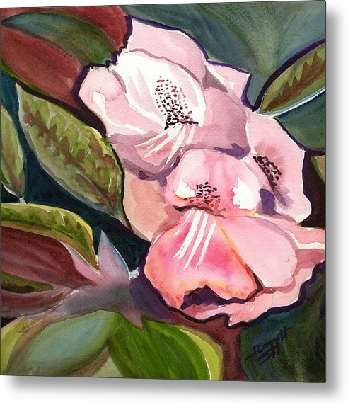 Floral Metal Print featuring the painting Jungle Floral by Janet Doggett