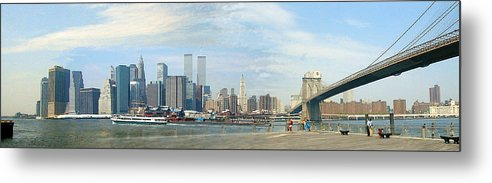 New York Metal Print featuring the photograph New York 1998 by John Bray