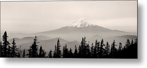 Mt. Hood Metal Print featuring the photograph Mt. Hood by Unknown