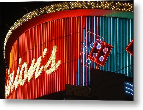 Binion's Metal Print featuring the photograph Binions Casino by Bill Buth