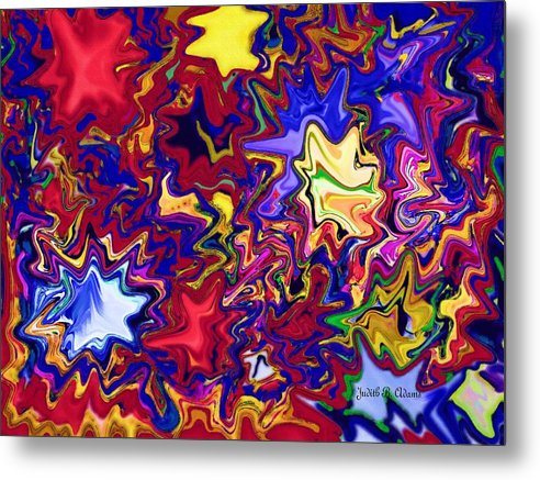 Colorful Abstract Metal Print featuring the photograph Abstract by Judith B Adams