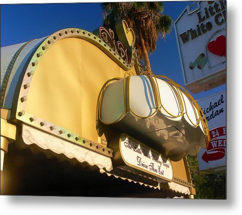 Las Vegas Metal Print featuring the photograph The Little White Wedding Chapel by Bill Buth