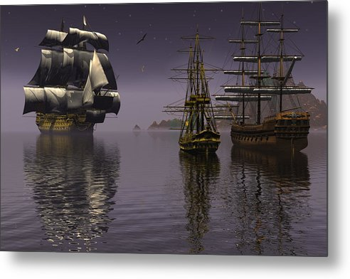 Bryce Metal Print featuring the digital art Prepare To Drop Anchor by Claude McCoy