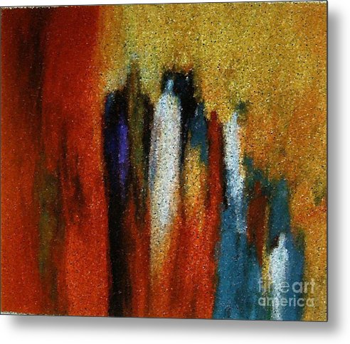 Abstract Metal Print featuring the painting Spirits Gathered by Don Phillips