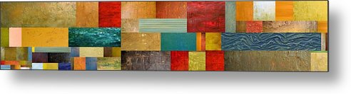 Skinny Metal Print featuring the painting Pieces Project V by Michelle Calkins