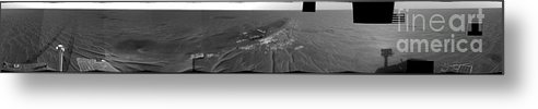 Mosaic Metal Print featuring the photograph Opportunity Rover On Mars by NASA / JPL-Caltech / Cornell Univserity