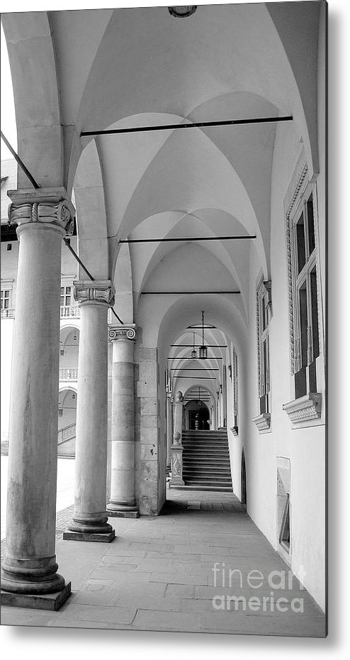 Architecture Metal Print featuring the photograph Corridor In Wawel by Keiko Richter