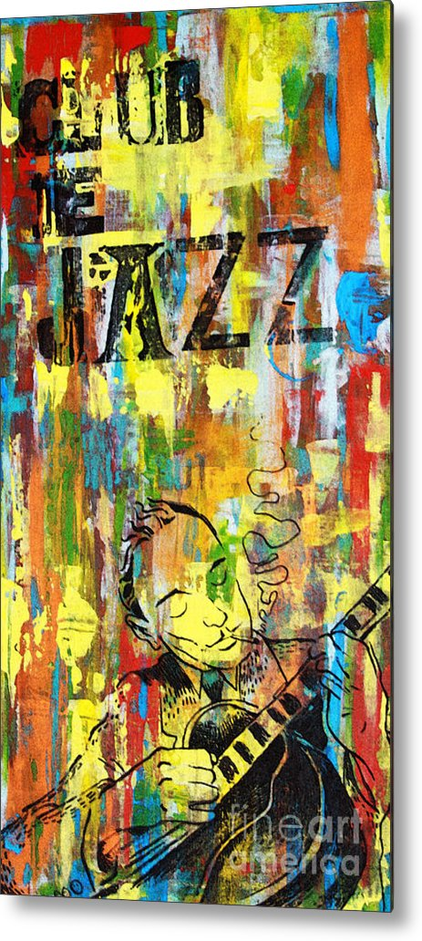 Club Metal Print featuring the mixed media Club De Jazz by Sean Hagan