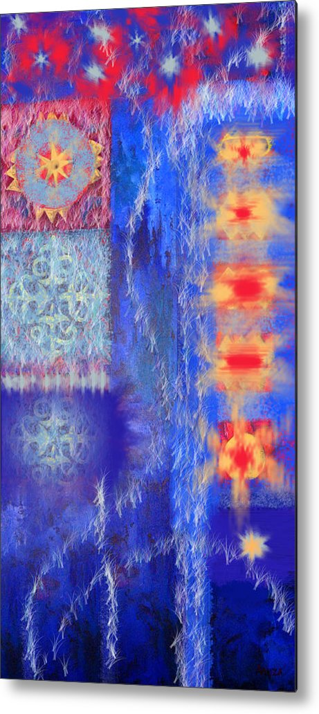 Ice Metal Print featuring the digital art Melting Ice by Aliza Souleyeva-Alexander