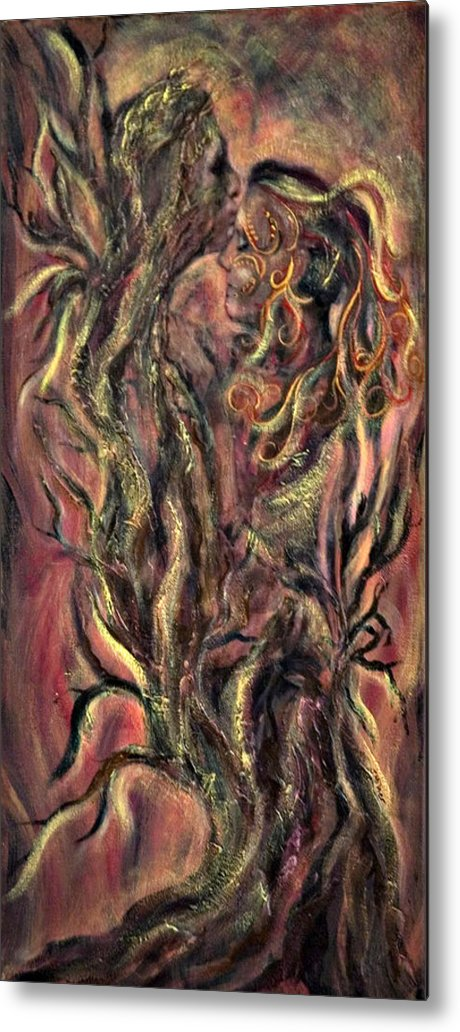 Tree Metal Print featuring the mixed media Roots by Jacqueline Milner