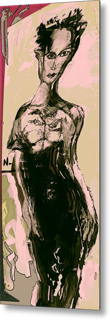 Fashon Metal Print featuring the painting Model IIi by Noredin Morgan