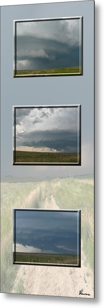 Tornado Strom Weather Rain Thunder Clouds Wind Metal Print featuring the photograph Storm Collection by Andrea Lawrence