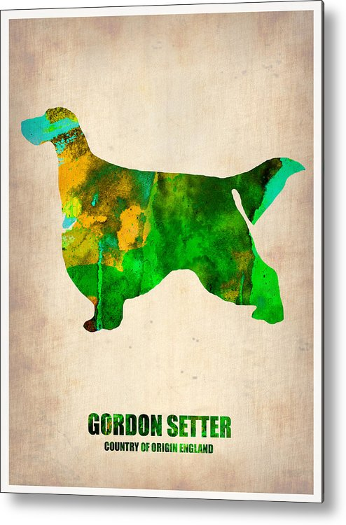 Gordon Setter Metal Print featuring the painting Gordon Setter Poster 2 by Naxart Studio