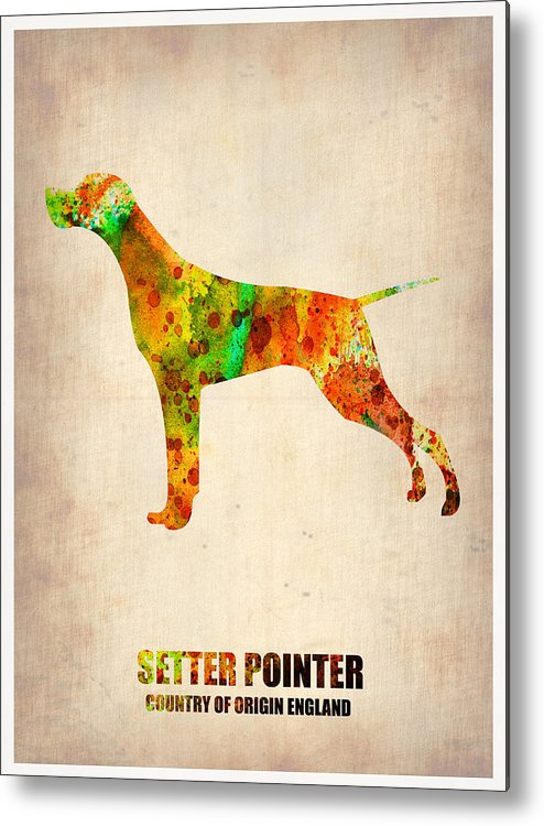 Setter Pointer Metal Print featuring the painting Setter Pointer Poster by Naxart Studio