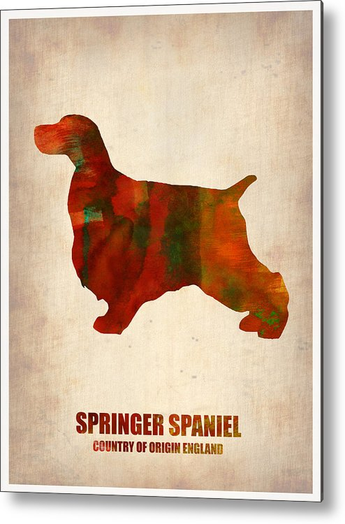 Springer Spaniel Metal Print featuring the painting Springer Spaniel Poster by Naxart Studio