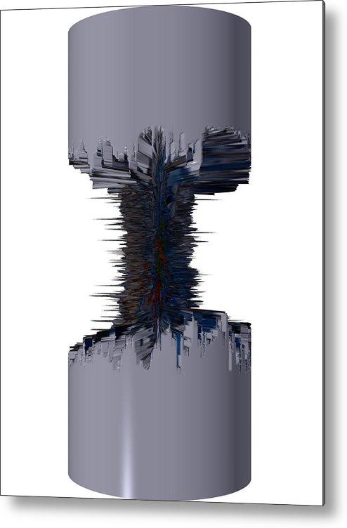 Digital Art Digital Art Metal Print featuring the drawing Thors' Dumbell by Robert Margetts