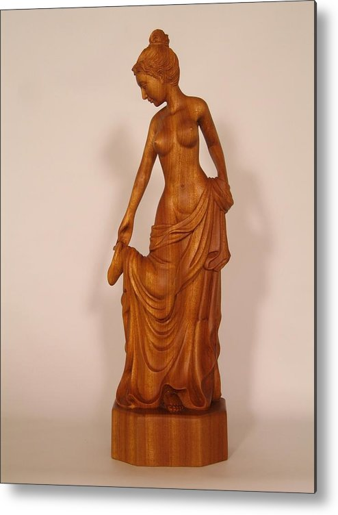 Girl Metal Print featuring the sculpture After The Bath by Thu Nguyen