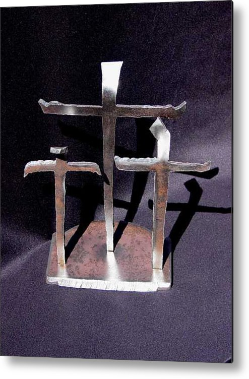 God Metal Print featuring the sculpture 3 Gifts Sold  by Steve Mudge
