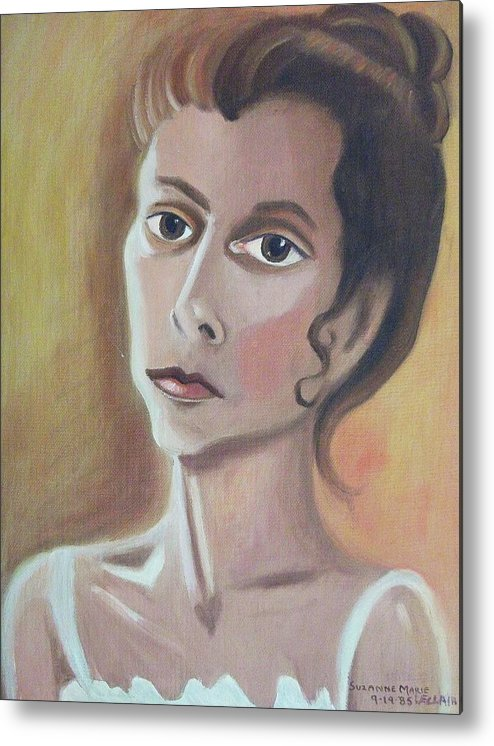 Mother Metal Print featuring the painting Self Portrait by Suzanne Marie Leclair