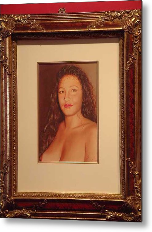 Nudes Metal Print featuring the painting Annie 10-2 by Benito Alonso
