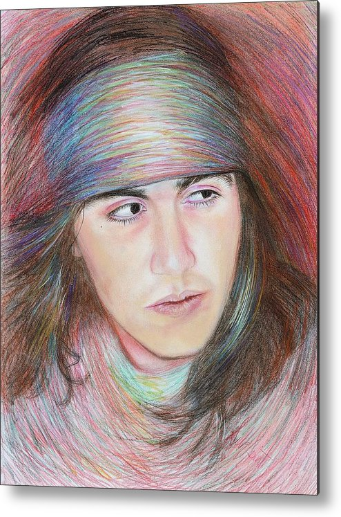 Apache Metal Print featuring the painting Apache Boy by Elizabeth Silk