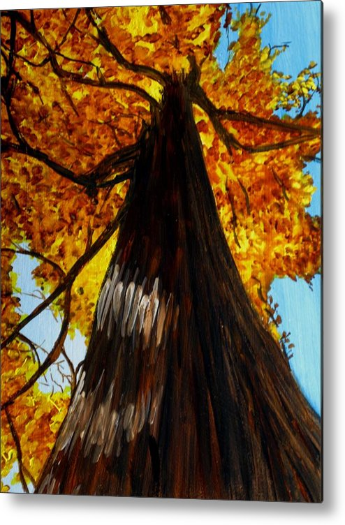 Landscapes Metal Print featuring the painting Autumn Majesty by Liz Borkhuis