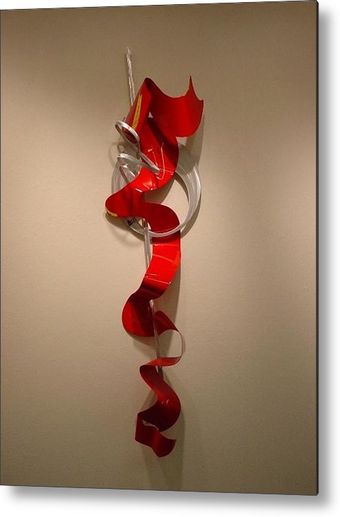 Aluminum Metal Print featuring the sculpture Away From The Soul by Mac Worthington