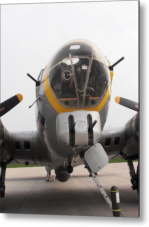B17 Metal Print featuring the photograph B17 Nose by Tim Donovan
