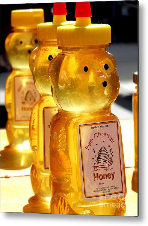 Wisconsin Honey Metal Print featuring the photograph Bee My Honey by David Bearden