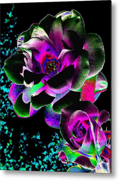 Bella Flora Metal Print featuring the digital art Bella Flora 8 by Will Borden