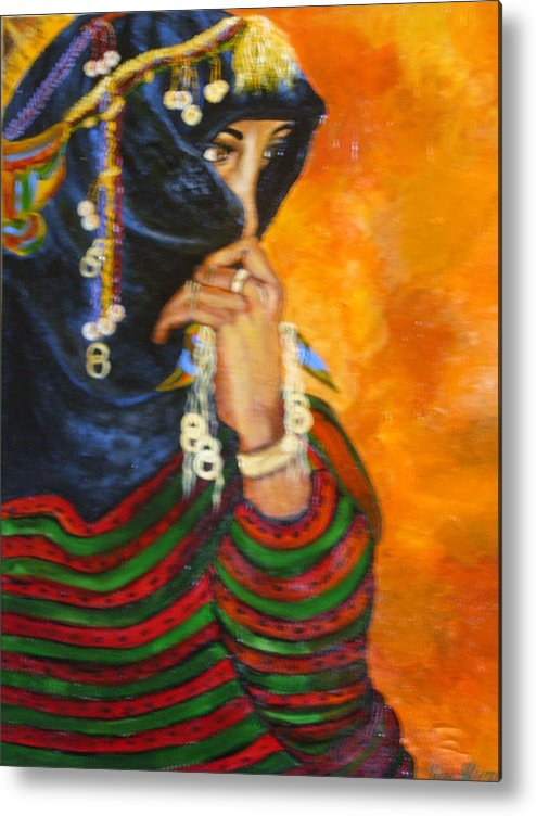 Metal Print featuring the painting Berbere Marocaine by ALVAREZ Jacky