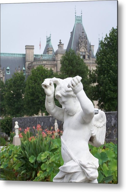 Biltmore House Metal Print featuring the photograph Biltmore House Cherub by Randy Edwards