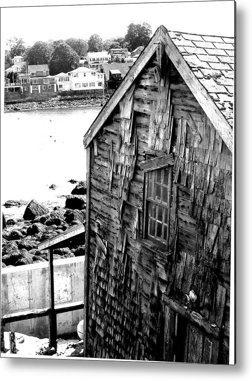 Metal Print featuring the digital art Boat House by Donna Thomas