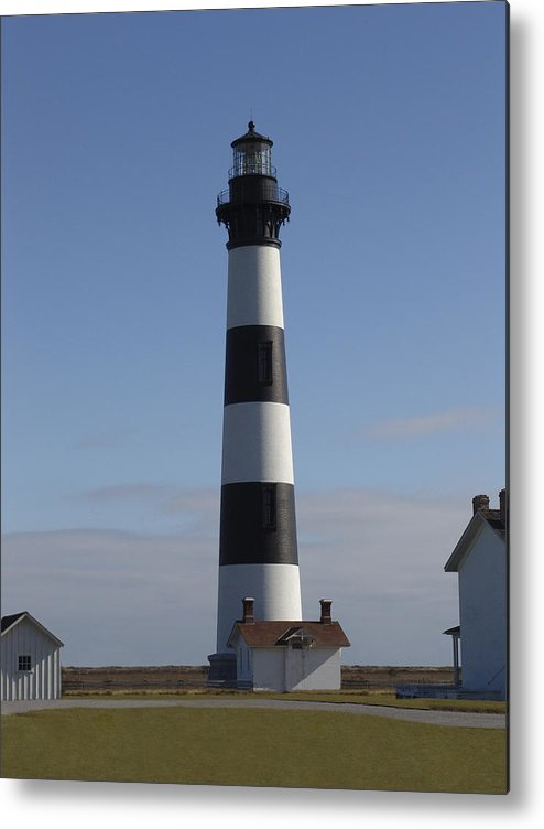 Lighthouse Metal Print featuring the photograph Bodie Lighthouse by Tina B Hamilton
