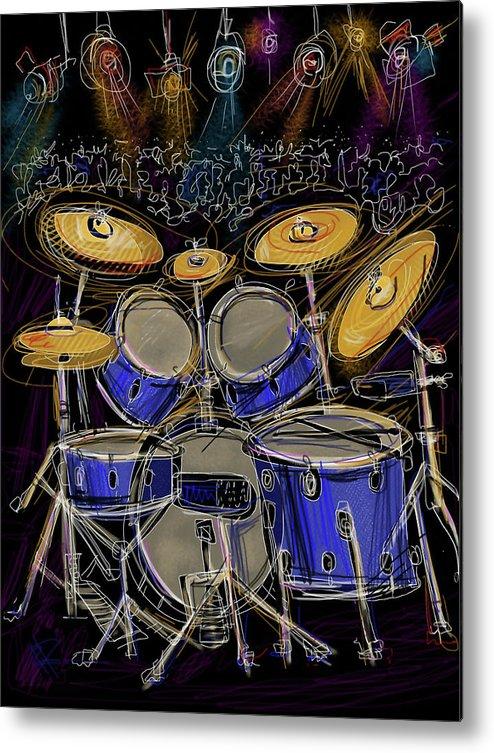 Drums Metal Print featuring the digital art Boom Crash by Russell Pierce
