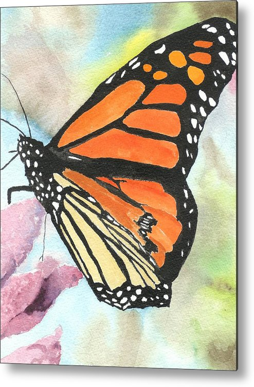 Floral Metal Print featuring the painting Butterfly by Robert Thomaston