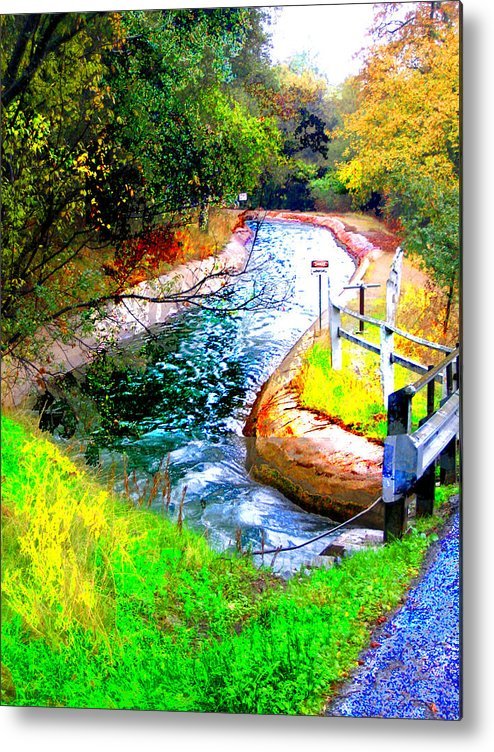 Metal Print featuring the digital art Canal by Danielle Stephenson