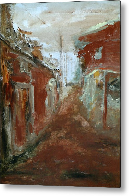 Female Art Metal Print featuring the painting Ceder Town by Rome Matikonyte