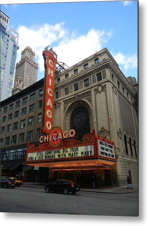 Chicago Metal Print featuring the glass art Chicago by Adam Hernandez