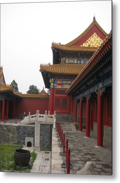 Forbidden City Metal Print featuring the photograph Corner Of The Forbidden City by Angela Siener
