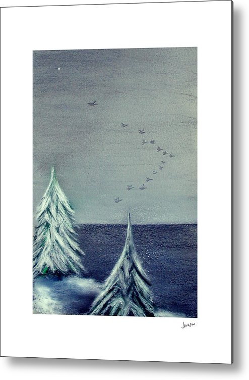Winter Metal Print featuring the painting December Dawn by Gary Jameson