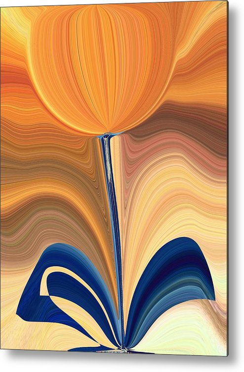 Bloom Metal Print featuring the digital art Delighted by Tim Allen