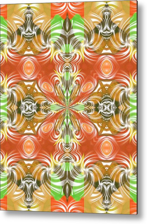 Abstract Digital Art Metal Print featuring the photograph Digital Colors by Guillermo Mason