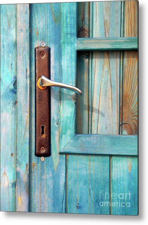 Abandonment Metal Print featuring the photograph Door Handle by Carlos Caetano