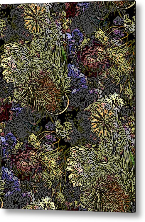 Dried Metal Print featuring the digital art Dried Delight by Tim Allen