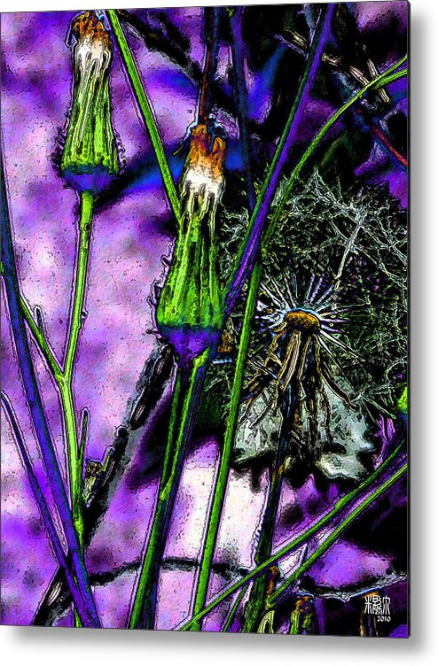 Flowers Metal Print featuring the digital art Earth Nail by Michele Caporaso