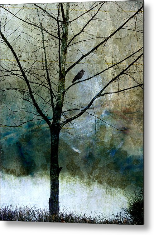 Crow Metal Print featuring the photograph Eastward by Carol Leigh